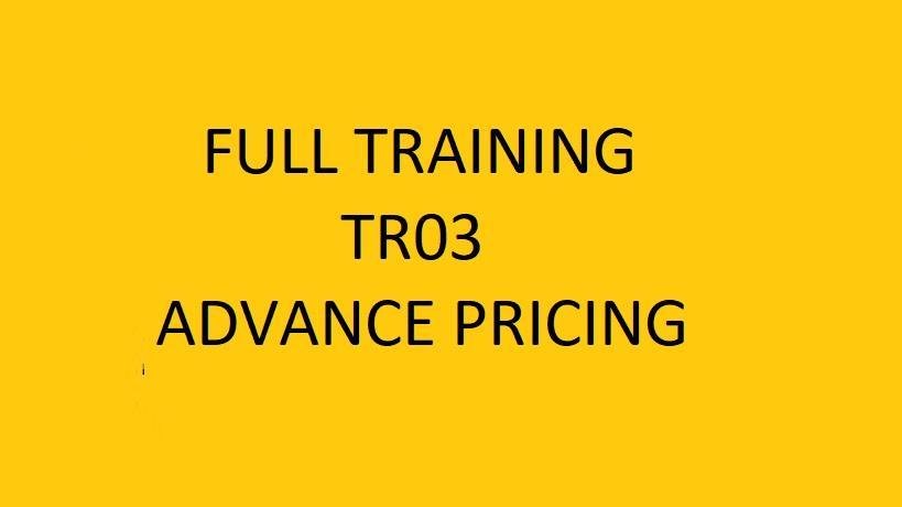 Full Training TR03 : eTenderWin  for Estimator #02 - Advance Pricing